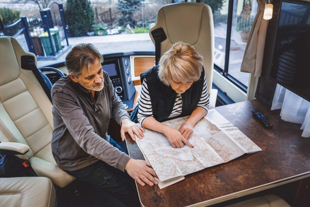 Couple plans their RV trip