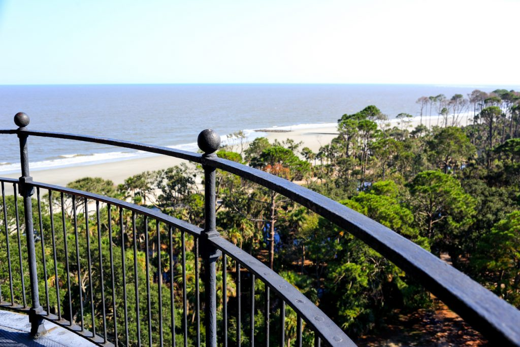 View of Hunting Island from the lighthouse