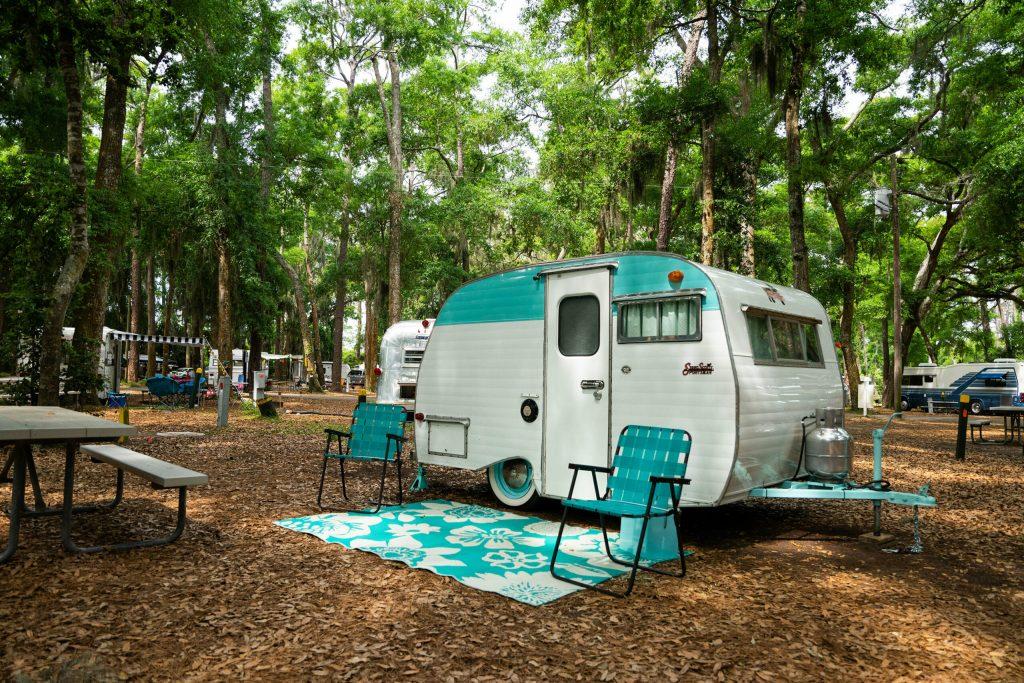 Vintage RV at Jekyll Island Campground