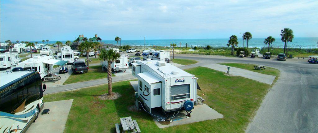 Oceanfront RV park campsites at Ocean Lakes