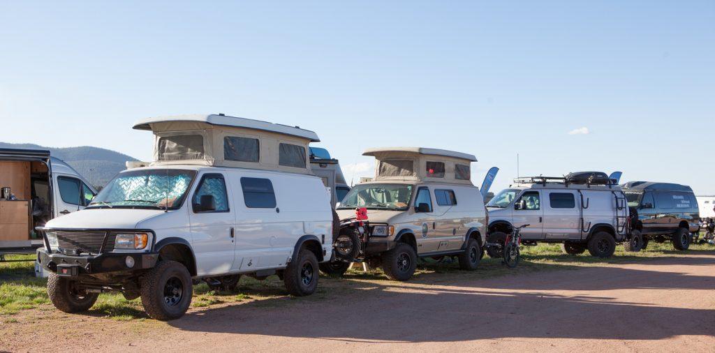 Custom conversion vans for overlanding